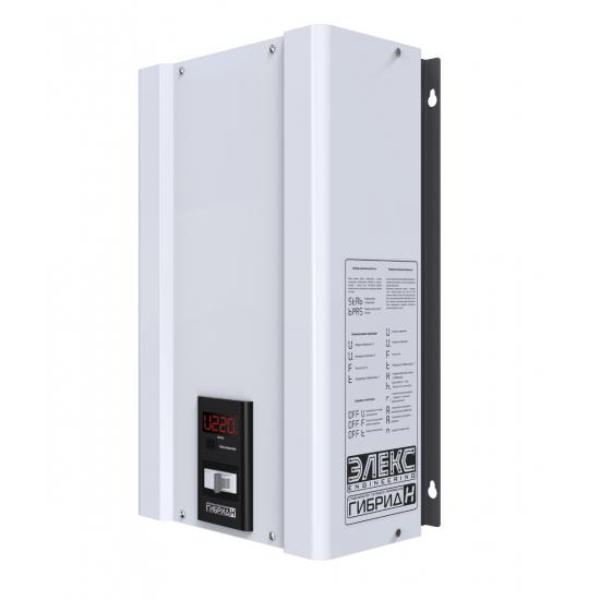 Стабилизатор напряжения однофазный ЭЛЕКС ГИБРИД У 9-1/40 v2.0 (9 кВт) для котла, для дома, для бытовой техники | Фото 1