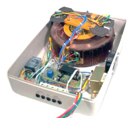 Сервоприводный стабилизатор - вид изнутри
